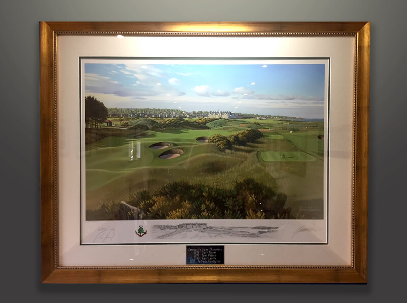 Carnoustie Baxter Five Champions Framed Print